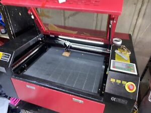 50W CO2 Laser Cutter Engraver - Black And Red - Ruida