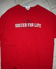 Adidas Red Soccer For Life Shirt, Size Large