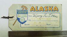1931 Canadian Pacific B.C. Coast Steamships SS Princess Alice Alaska Baggage Tag