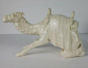 Goebel W Germany Nativity Camel Kneeling White Vintage