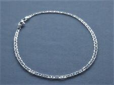 "Marina Link 2.5mm Italy 925 10"" Ankle Bracelet Italian Sterling Silver"