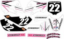 Kawasaki KLX110 2002-2009 Complete Graphics Kit - Pink Arrow - by FastTimes