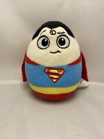 "DC Comics Superheroes Egg Plush ~ SUPERMAN ~ 6"" Soft Plush Toy 2015 Super Heroes"