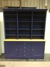 Painted KITCHEN DRESSER Farmhouse Unit Shabby chic Large 6ft Hague blue
