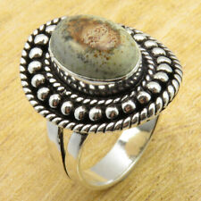 Size 10.25 Ring BESTSELLER 925 Silver Plated Natural Picture Jasper ONLINE STORE