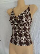 (MAR207) Size 8/10 NEXT 2x Brown bikini & tankini tops swimming costume ladies
