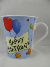 Happy Birthday Banner w/ Balloons Mug Message on Inside Mug  by Konitz New