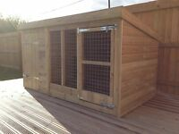 """Dog Kennel And Run - 4'4"""" Tall -  Price From £295"""