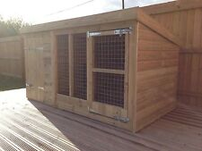 "Dog Kennel And Run - 4'4"" Tall -  Price From £295"