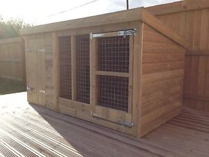 "Dog Kennel And Run - 4'4"" Tall -  Price From £320"