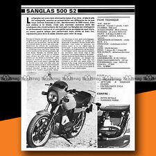 ★ SANGLAS 500 S2 ★ 1979 Essai Moto / Original Road Test #a291