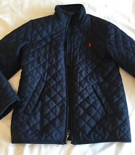 Polo Ralph Lauren Boy's Navy Quilted Barn Jacket For 10 12 Years Size M