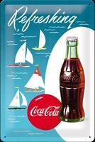 Coca Cola Segelboote geprägten Metallzeichen Schnellversand von Großbritannien
