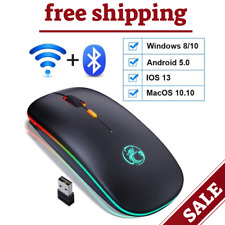 Bluetooth Mouse Wireless Rechargeable Laptop PC Mac iPad MacBook Air Innovative