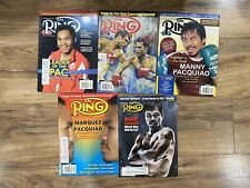 """LOT OF 5 THE RING BOXING VINTAGE MAGAZINE MANNY """"PACMAN"""" PACQUIAO #3 VG-XLNT"""