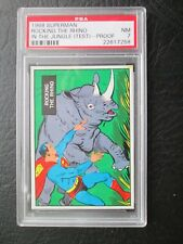 SUPERMAN IN THE JUNGLE 1966 Topps (TEST PROOF) #14 PSA 7 NM **RARE**