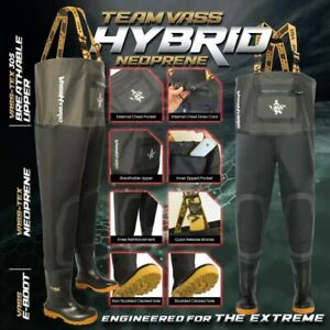 Team Vass Hybrid Neoprene / Breathable Chest Wader VM310-70T