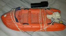 Vintage Toy Remote cable Control line orange Boat speedboat made in Greece