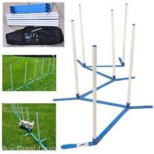 Dog Agility Equipment Adjustable 6 Weave Pole Set Training Equipment Starter Pet
