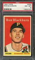 1958 TOPPS #459 RON BLACKBURN PSA 8 (RC) PIRATES *DS10917