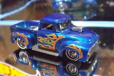 Hot Wheels REAL RIDERS CUSTOM '56 FORD TRUCK in Blue. 2018 HW HOT TRUCKS. LOOSE