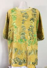 Coogi Australia Short Sleeve Sweater Shirt Yellow 2XL XXL 2X
