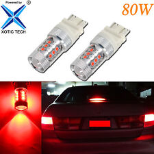 2X 80W 1920LM High Power Super Bright Red 3157/3057 LED Tail Brake Stop Light