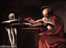 Caravaggio St Jerome Oil Painting Canvas Print