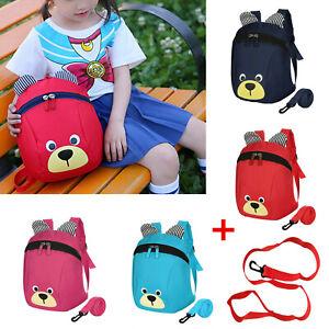 Kids Safety Harness Reins Toddler Back Pack Walker Buddy Strap Walker Bag Cute