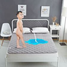 Waterproof Mattress Pad Cover Solid Terry Cotton Anti Mites Bed Protection Sheet