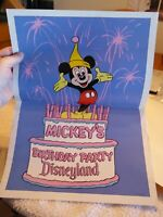 Disneyland Mickey Mouse 50th Birthday Folded Poster 1978 - MAKE OFFER