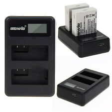 Dual Charger+2x Battery for LP-E8 LPE8 for Canon LP-E8 EOS 700D 650D 600D Camera