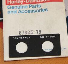 HARLEY 67835-75 Headlamp Bracket Trim Generator Oil Pressure NOS OEM