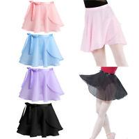 Kids Girls Ballet Dance Dress Gymnastics Tutu Wrap Scarf Skirt Skating Dancewear