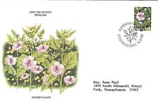 DENMARK 1990 FIRST DAY COVER, ENDANGERED PLANT SPECIES, DANISH PLANTS
