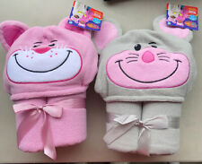 Flipazoo Hooded Towel, Gray Mouse To Pink Kitty. New With Tags.