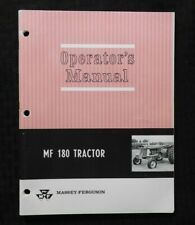 1968-1969 MASSEY-FERGUSON MF 180 MF180 TRACTOR OPERATORS MANUAL EXCELLENT
