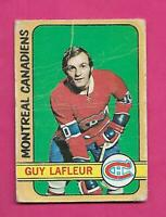 1972-73 OPC # 59 CANADIENS GUY LAFLEUR 2ND YEAR CREASED CARD  (INV# D0983)