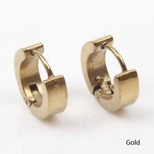Cool Mens Titanium/Stainless Steel Hoop Pierced Ear Earring Studs Jewelry