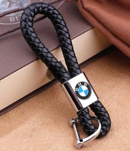 BMW Luxury leather keyring key chain fob Gift UK
