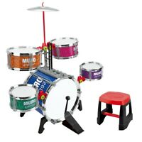 Jazz Drum Set With Microphone And Electronic Piano & Drum Sticks Kids Toy
