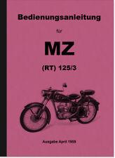 MZ RT 125/3 Bedienungsanleitung Betriebsanleitung Handbuch User Manual RT125/3