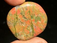 27gr Galet Unakite Pierre Plate (Chine) ~7502 Tumbled Unakite from China