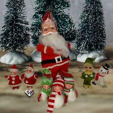 Vintage Santa and Christmas Tree Decorations