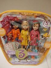 2005 Barbie Wee 3 Friends Rain Rain Rain Stacie, Janet & Lila Giftset