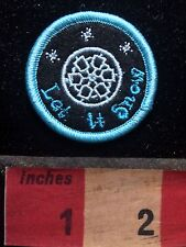 "Small SNOWFLAKE - LET IT SNOW Patch 1 5/8"" (PERFECT FOR BAGS / JACKETS) 76X2"
