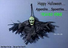 HALLOWEEN TESCHIO VERDE SPAVENTINO DECORAZIONE DJ PARTY cm.30x20 FESTA HORROR