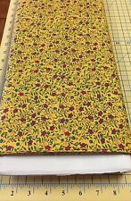 Shelly Benton The Quilt Bug Flowers on Yellow Fabric for H. Glass - 1 Yard