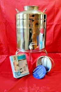 Kanne, Edelstahl Behälter. Fass, AISI-316. NSF-Behälter Trinkwasser