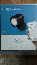 Ring Smart Lighting Black Motion Activated Outdoor Integrated LED Spotlight